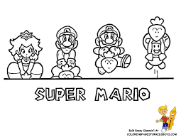 Printable drawings and coloring pages. Mario Characters Pictures Coloring Home
