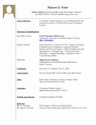 Job Resume Format For High School Students Lovely Perfect Design
