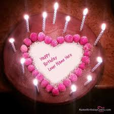 happy birthday cakes with candles for best friend. Interesting Birthday Candles Heart Happy Birthday Cake With Name On Cakes For Best Friend