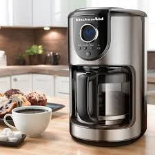 kitchenaid coffee maker. kitchenaid kcm1202ob onyx black 12-cup glass carafe coffee maker - free shipping today overstock.com 16406178 kitchenaid