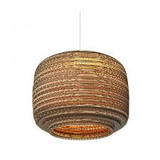 basket pendant light. Pendant Light Design White-beige Basket Cardboard Ø 28cm N
