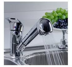 Good Quality Single Handle Low Arc Pull Out Chrome Kitchen Sink
