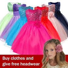 3 14yrs <b>Hot Selling</b> Baby <b>Girls</b> Flower sequins Dress High <b>quality</b> ...