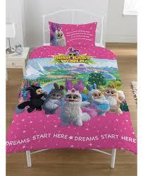 bush baby world sparkle single duvet cover bedding set