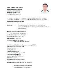 Machine Operator Resume Sample Best of Crane Operator Resume Sample Machine Operator Resume Sample