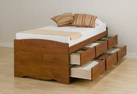 storage platform bedroom sets inspiring brown wooden storage bed designed with double drawers and white