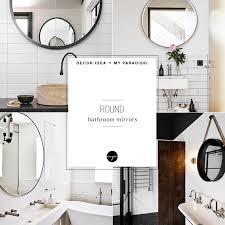 decor trend round bathroom mirror