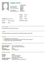 Resume Format Malaysia Resume Template Sample