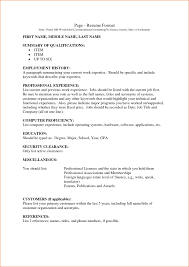 Free Resume Templates 14 Format Of For Job Incident Report