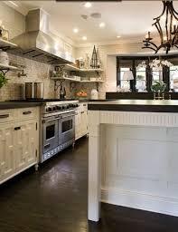 Superb Jeff Lewis Style Kitchen; All Shelves, No Upper Cabinets