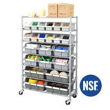 commercial bin rack classics inc 7 shelf commercial bin rack system 2 gray steel seville classics
