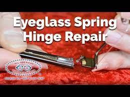 to repair broken eyeglass spring hinges