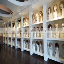 wall mount hair display stand wig display stand and diaplay cabinet