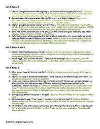 A Raisin In The Sun Character Chart Answer Key A Raisin In The Sun Study Guide Act Questions And Answer Key