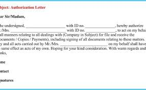 Authorization Letter To Act On Behalf Of Someone 6 Best Samples