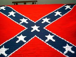 Crocheted Confederate Flag Afghan &  Adamdwight.com