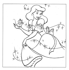 Small Picture Cinderella Coloring Pages Cinderella Coloring Princess Coloring