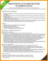 Sample Resume Preschool Teacher Fresher Teaching Assistant New For