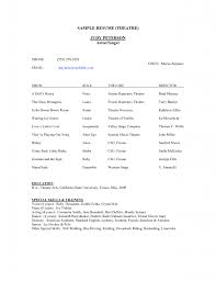Theatre Resume Acting Jobs Resumes Stuffs Job Technical Template