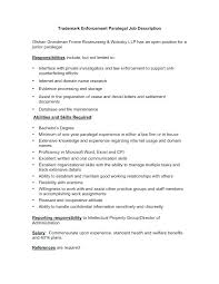 Resume Objective For Paralegal Paralegal Job Description Resume Resume Objective Secretary 62