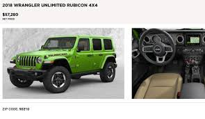 2018 jeep wrangler jl unlimited rubicon options