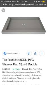 tile redi shower base shower pan double curb for in palmetto fl offerup
