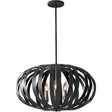 large modern ceiling pendant light in textured black cage design intended for decor 16
