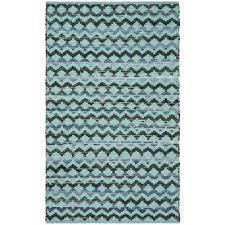 montauk turquoise blue black 3 ft x 5 ft area rug