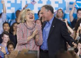 Image result for hillary and tim kaine