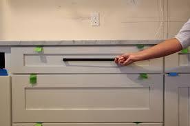 long matte black appliance pull
