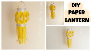 diy diwali decoration idea paper lantern sakshi kamat youtube