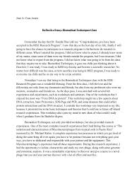 writing reflective essay examples from reflection essays school of undergraduate studies