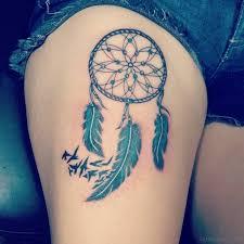 Cute Dream Catcher Tattoos 100 Graceful Dreamcatcher Tattoos On Thigh 33