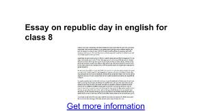 essay on republic day in english for class google docs