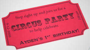 invitations for a circus party theme