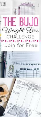 Bullet Journal Weight Loss Challenge The Petite Planner
