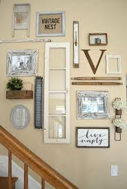vintage wall decor ideas farmhouse inspired staircase gallery picture gallery for website vintage wall decoration
