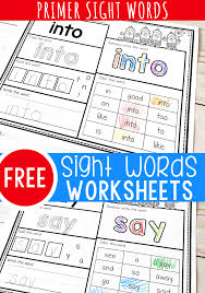 Great for preschoolers and kindergarteners. Free Printable Kindergarten Sight Words Worksheets