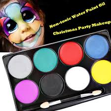 face paint halloween makeup non toxic water paint oil christmas party fancy dress devil fans body face painting primer tattoo creator tattoo designer from