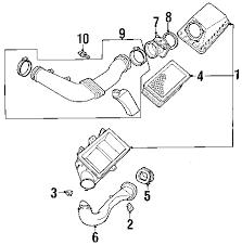 com acirc reg lincoln ls air intake oem parts 2001 lincoln ls base v8 3 9 liter gas air intake