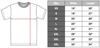 Anvil T Shirts Size Chart Eco Merch