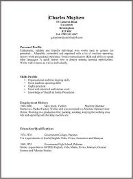 Simple Cv Examples Uk Free Resume Templates Uk Resume Template Free Basic