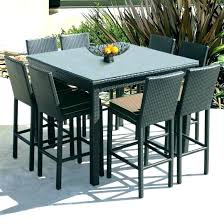 tall table set marvelous patio ideas furniture and chairs outdoors high top bistro counter height dining