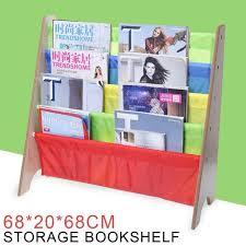 childrens kids wooden bookcase rack storage book shelf tidy bedroom playroom for