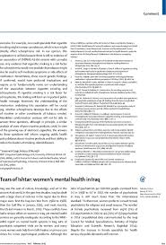 tears of ishtar women s mental health in the lancet psychiatry first page of article