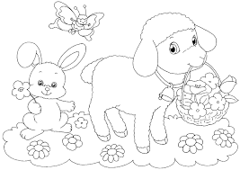 Free Printable Easter Lamb Coloring Pages L L L L L L