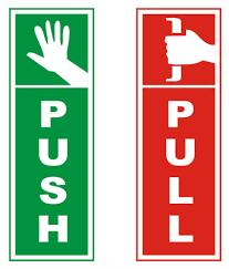 Tausif Creation New Push Pull Sign Laminated Glossy Doors Sticker 6 Inch L X 2 5 Inch B 1 Unit