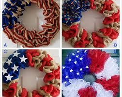patriotic wreaths for front doorPatriotic wreath  Etsy