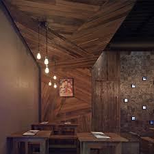 wood wall interior design photo - 2