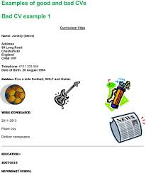 Examples Of Good And Bad Cvs Magdalene Project Org